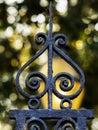 Wrought iron decoration Royalty Free Stock Photo