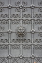 Wrought iron door with lion face on at the bavarian national museum in munich Royalty Free Stock Photography