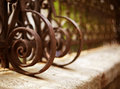 Wrought Iron Fence Detail Royalty Free Stock Photography