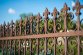 Wrought iron fence Royalty Free Stock Photo