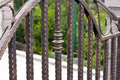 Wrought iron fence details from Stock Photos