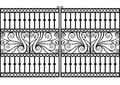 Wrought iron fence or gate.vector eps Royalty Free Stock Photo