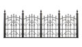 Wrought iron fence isolated on white background. 3d rendering