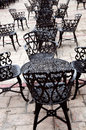Wrought iron furniture Stock Photos