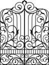 Wrought Iron Gate, Door, Royalty Free Stock Photo
