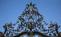 Wrought Iron Gate Ornament Royalty Free Stock Photo
