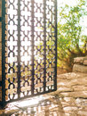 Wrought iron gates Handmade Royalty Free Stock Photo