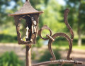 Wrought iron ornaments in the park summer Royalty Free Stock Photography