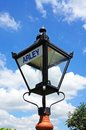 Wrought iron streetlight, Arley. Royalty Free Stock Photo