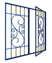 Wrought iron window grille Royalty Free Stock Photos