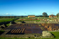 Wroxeter roman city or viroconium was the fourth largest in britain Stock Images