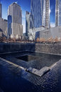 Wtc memorial visitors at the world trade center after the terrorism attacks in manhattan ny Stock Images
