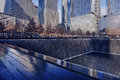 Wtc memorial visitors at the world trade center years after the terrorism attacks in manhattan ny Stock Image