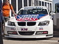 Wtcc franz engstler event of racing tourism in the circuit of hungaroring hungary on may photo of with the bmw tc Royalty Free Stock Photo