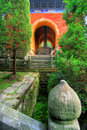 Wudang Shan Tempel in China Lizenzfreies Stockfoto