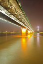 Wuhan Yangtze river bridge Stock Photos