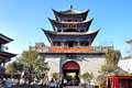 Wuhua tower is a landmark spot in dali yunnan province china Stock Photo