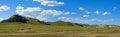 WulanBu all grassland ancient battlefield autumn scenery Royalty Free Stock Photo