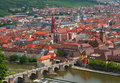 Wurzburg city in Bavaria, Germany Stock Photography