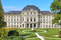 Wurzburg residence germany and court gardens in Stock Photo