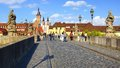 Wurzburg's Old Main Bridge (Alte Mainbrücke). Royalty Free Stock Photography
