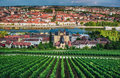 Wurzburg town in germany view to the from marienberg castle Royalty Free Stock Image