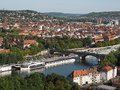Wurzburg - view from the castle to the city, Germany Royalty Free Stock Photo