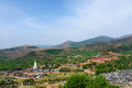 Wutai mountain mount scenic panorama Royalty Free Stock Images