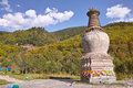Wutai mountain scenery the landscape of temple pagoda in shanxi china is one of the most famous buddhist spots Stock Photography