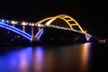 Wuyuan bay bridge at night Royalty Free Stock Image