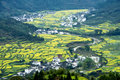 Wuyuan spring beautiful rape and terraces Stock Photo