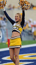 WVU cheerleaders Royalty Free Stock Photography
