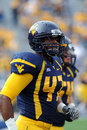 WVU linebacker Doug Rigg Royalty Free Stock Photos