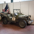 Ww ii american vehicle at militalia in milan italy november exhibition dedicated to militaria collectors and military associations Royalty Free Stock Images