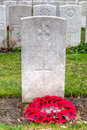 Wwi headstone of a female nurse at lijssenhoek cemetery flanders fields great war famous nellie spindler the queen alexandra s Royalty Free Stock Photography