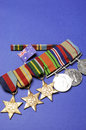 WWII Australian military army corps medals - vertical Royalty Free Stock Photo