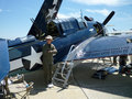 WWII Helldiver Aircraft Royalty Free Stock Photography