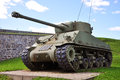 Wwii m sherman tank at la citadelle in quebec city quebec canada Royalty Free Stock Photo