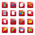 WWW accountant icons Stock Photos