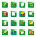 WWW accountant icons Stock Photo