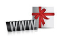 Www and gift present illustration design Royalty Free Stock Photo