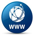 WWW (global network icon) blue round button Royalty Free Stock Photo