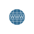 Www and globe internet flat icon, Website browser Royalty Free Stock Photo