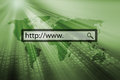Www. in search bar of a browser Royalty Free Stock Photo