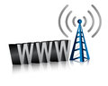 Www wifi tower Stock Photo