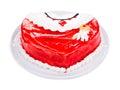 Wyśmienicie tort w formie serca Obrazy Royalty Free