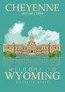 Wyoming American Poster. Cheye...