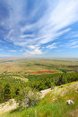 Wyoming countryside scenery sweeping view of the from the bighorn national forest Stock Photos