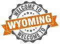 Wyoming round ribbon seal Royalty Free Stock Photo