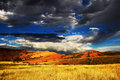 Wyoming sky the red canyon in lander Stock Photography